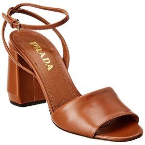 PRADA Ankle Strap Sandal Brown
